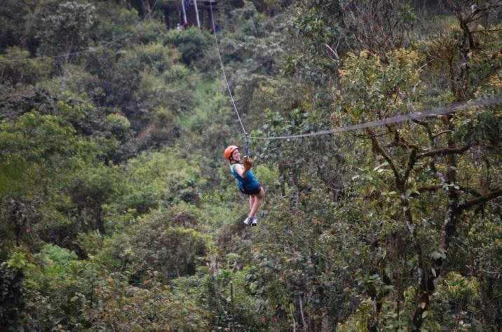Zip line in Ecuador